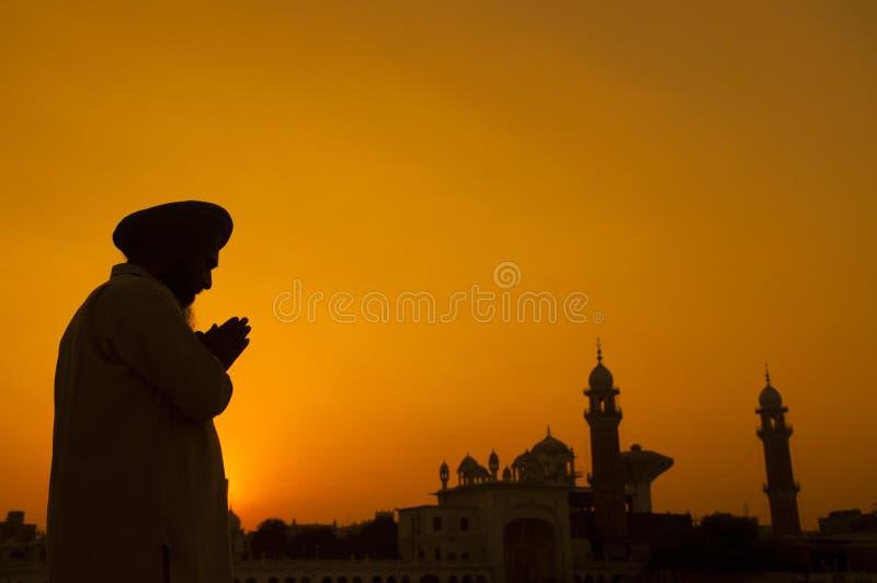 Sikhgebet lizenzfreie stockbilder