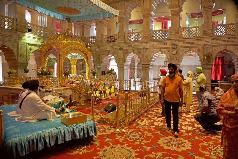 Sikhijska świątynia w Starym Delhi, India zdjęcie royalty free