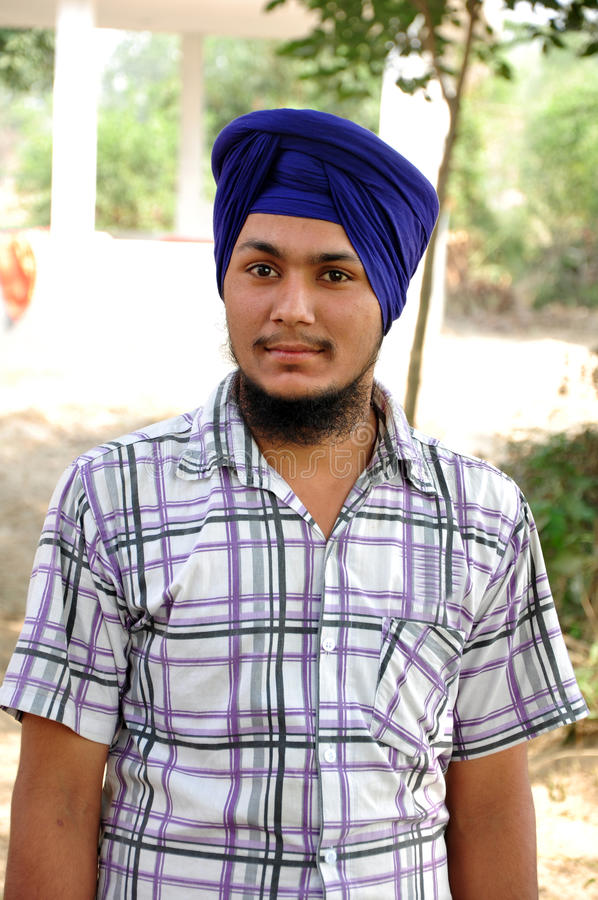 Sikhijska chłopiec zdjęcie royalty free