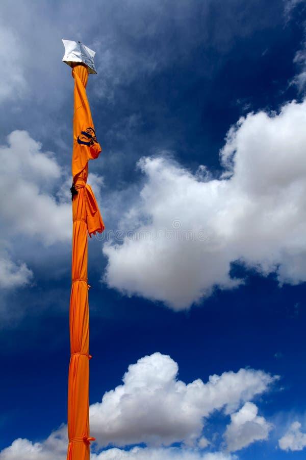 Download Sikhism holy flag stock image. Image of sikhism, yellow - 24905727