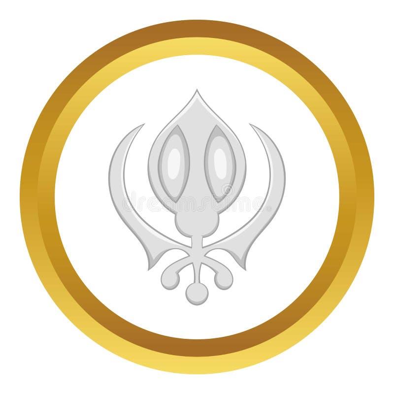 Sikhism symbolu ikona royalty ilustracja
