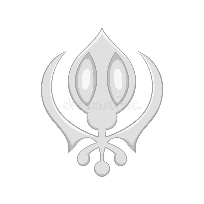 Sikhism symbolu ikona w kreskówka stylu royalty ilustracja
