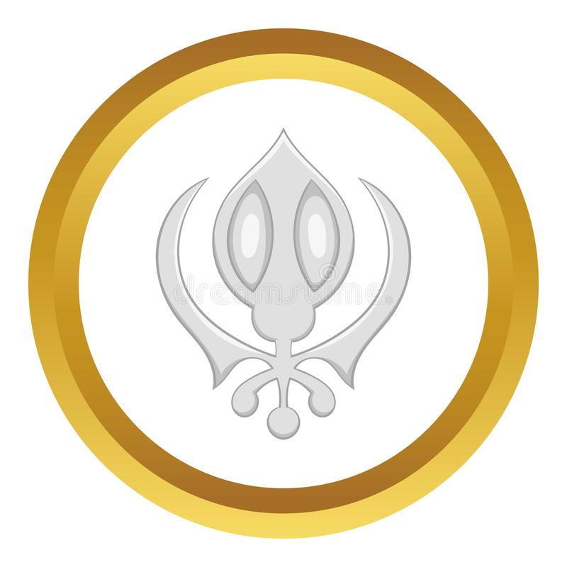Sikhism symbolu wektoru ikona royalty ilustracja