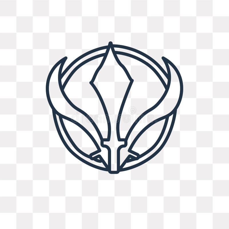 Sikhism wektorowa ikona na przejrzystym tle, liniowy S ilustracji