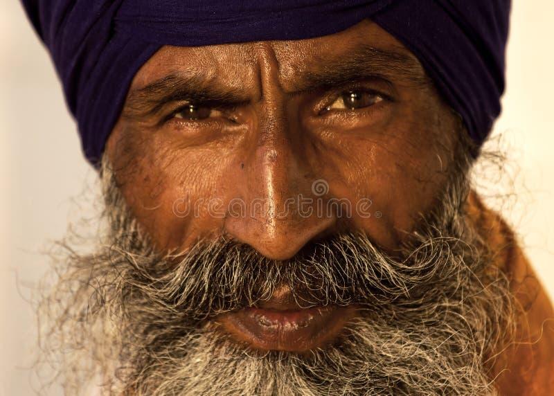 Sikhmann in Amritsar, Indien. lizenzfreie stockbilder
