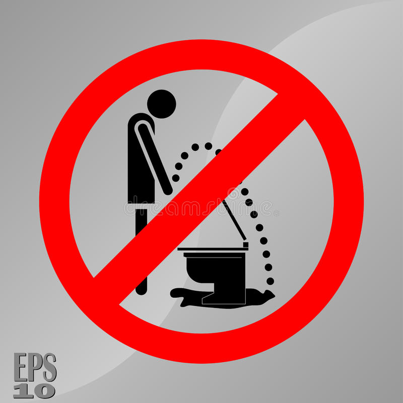Siki prohibici znak, znak higiena ilustracja wektor