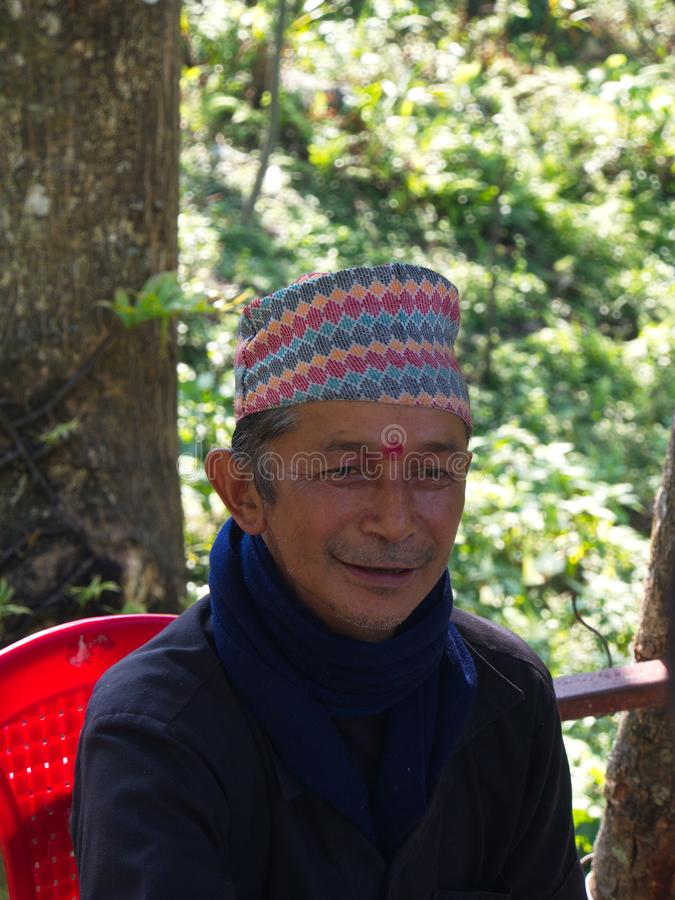 Sikkim Local people in town , Gangtok City,Sikkim INDIA , 16th A. PRIL 2013 royalty free stock photo