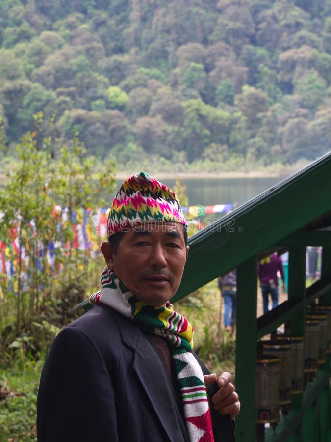 Sikkim Local people in town , Gangtok City,Sikkim INDIA , 16th A. PRIL 2013 stock photo
