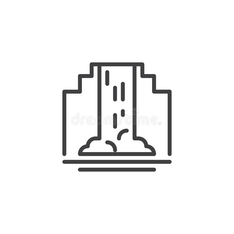 Siklawa konturu ikona ilustracja wektor