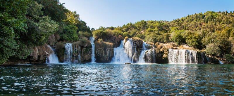 Siklawa na Krka rzece w Chorwacja zdjęcie stock