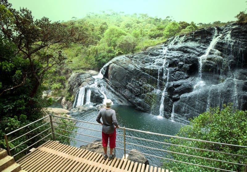 Siklawa na Sri Lanka zdjęcie royalty free