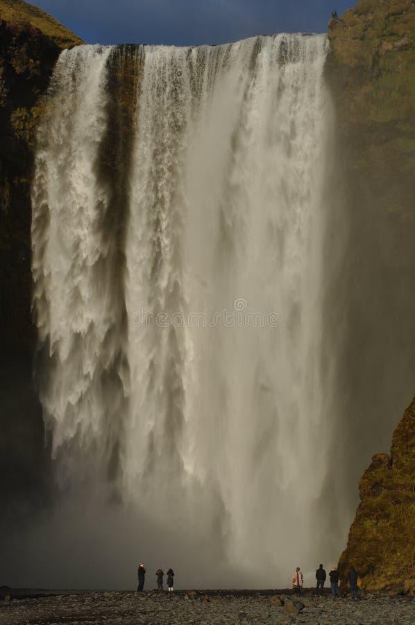 Siklawa Skogafoss w Iceland zdjęcia stock