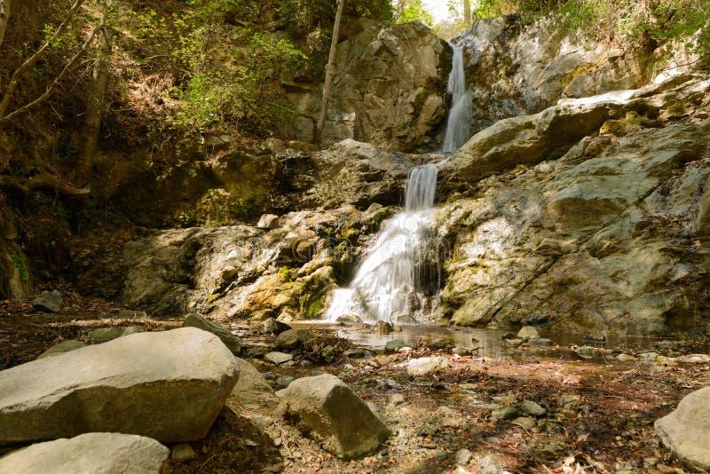 Siklawa w górach Troodos Cypr obraz royalty free