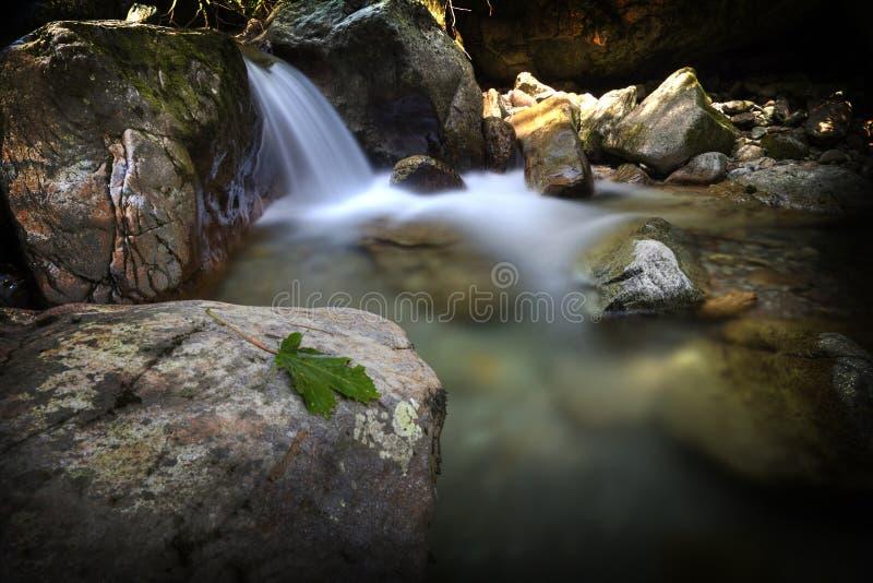 Siklawa w jeziorze fotografia royalty free