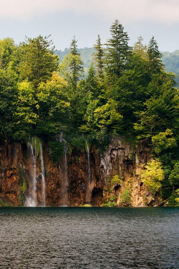 Siklawa w parku narodowym Plitvice zdjęcie royalty free