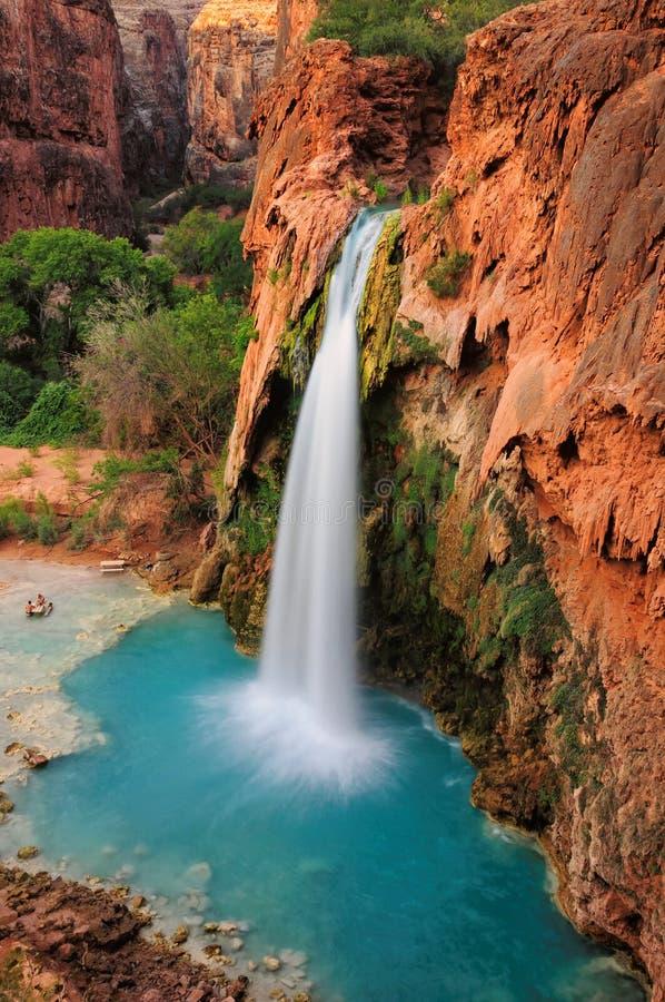 Siklawa w Uroczystym jarze, Arizona, USA zdjęcia royalty free