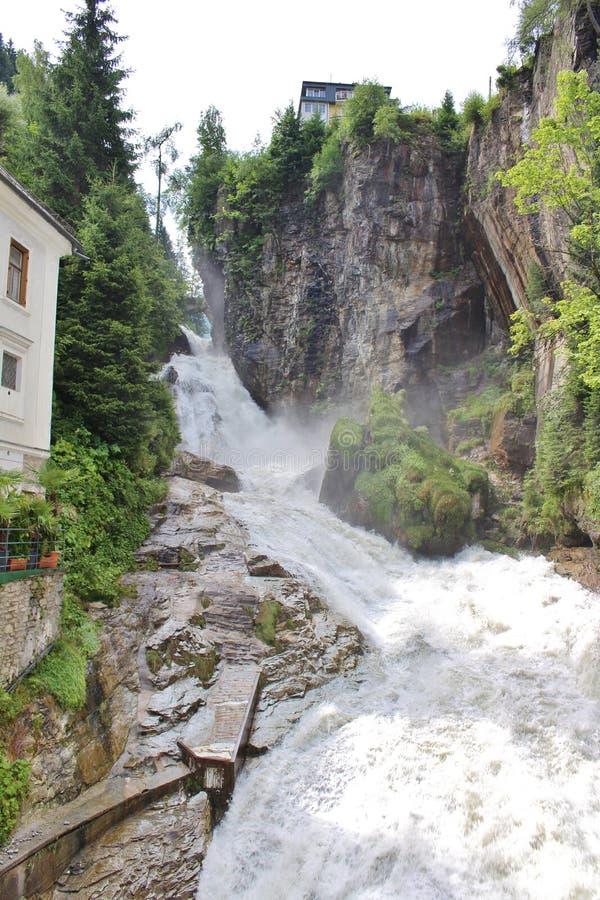 Siklawa w Złym Gastein, Austria zdjęcia stock