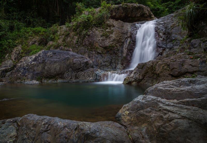 Siklawy El Ataud w Puerto Rico fotografia stock