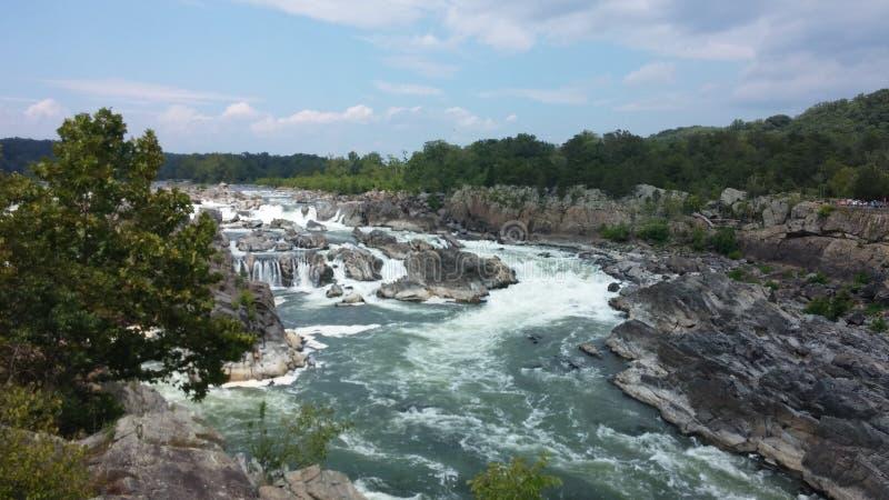 Siklawy i gwałtowni przy Great Falls, Virginia zdjęcia stock