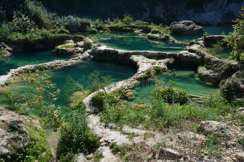 Siklawy i rzeki w losie angeles Huasteca Potosina Meksyk fotografia stock