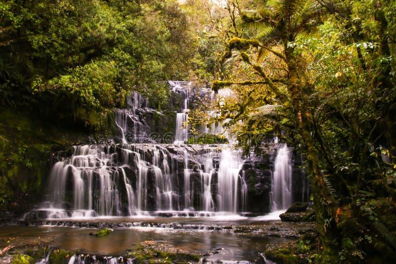 Siklawy i tropikalny las deszczowy fotografia stock