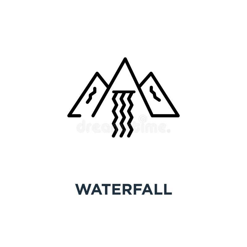 Siklawy ikona siklawy pojęcia symbolu projekt, wektorowy illustra ilustracja wektor