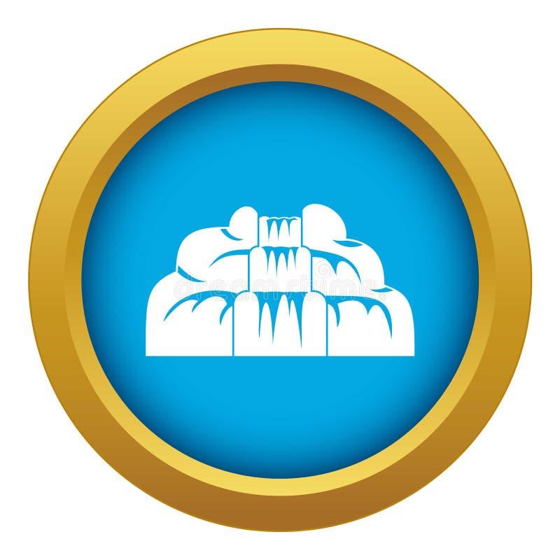 Siklawy ikony błękitny wektor odizolowywający ilustracji