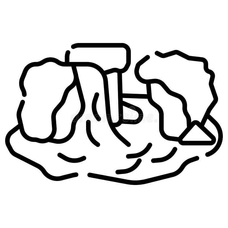 Siklawy ikony wektor ilustracji