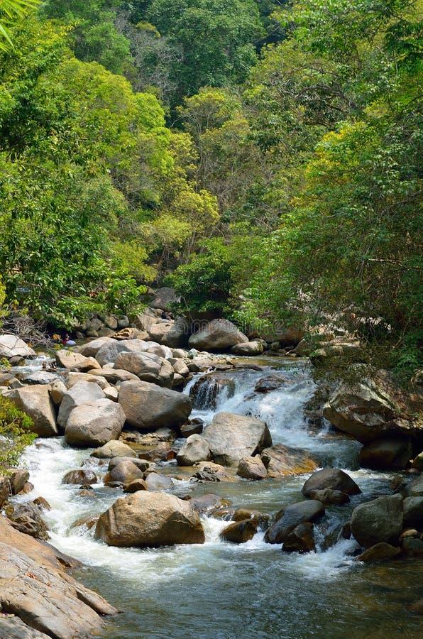 Siklawy przy Sungai Kanching, Rawang, Selangor, Malezja obrazy royalty free