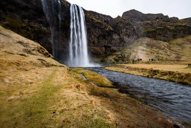 Siklawy ` Skogafoss ` w Południowym Iceland fotografia royalty free