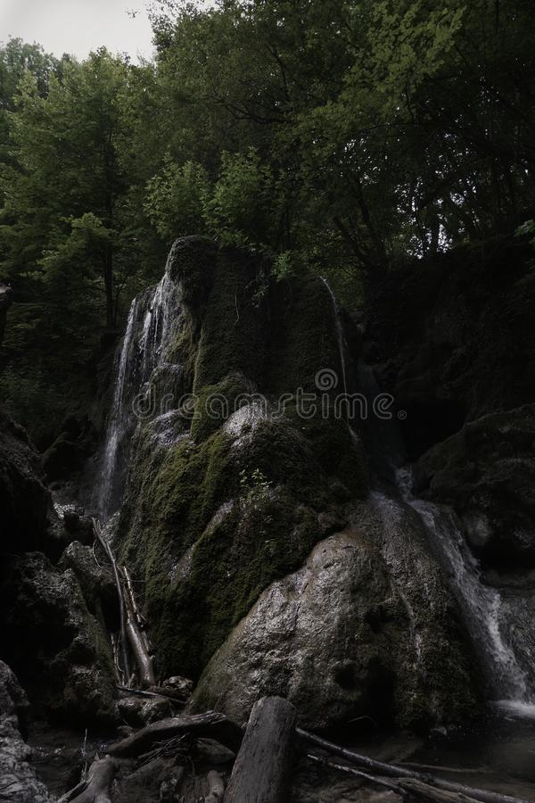 Siklawy srebra strumień & x28; Serebryanie Strui& x29; zdjęcia royalty free