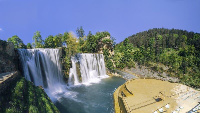 Download Siklawy W Mieście Jajce, Bośnia I Herzegovina, Obraz Stock - Obraz złożonej z jasny, balkan: 65225547