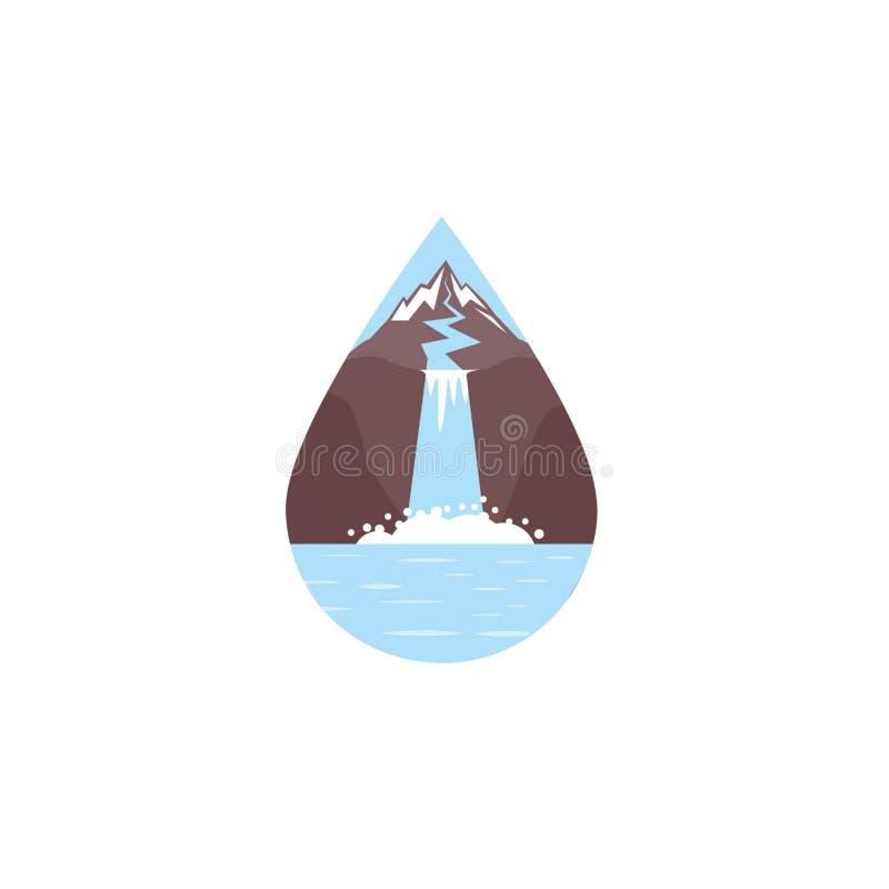 siklawy wektorowa ilustracja EPS 10 lub logo royalty ilustracja