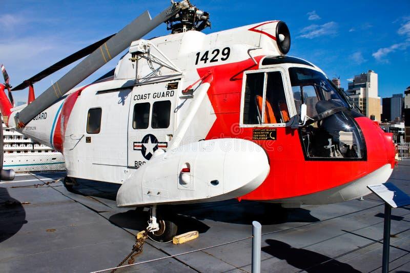 Sikorsky HH-52 Seaguard直升机 免版税图库摄影
