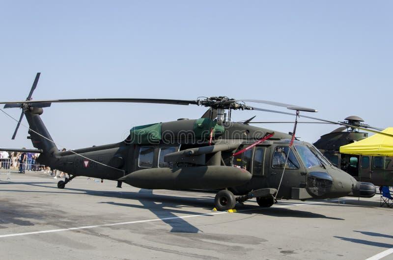 Sikorsky S-70a黑色鹰 免版税图库摄影