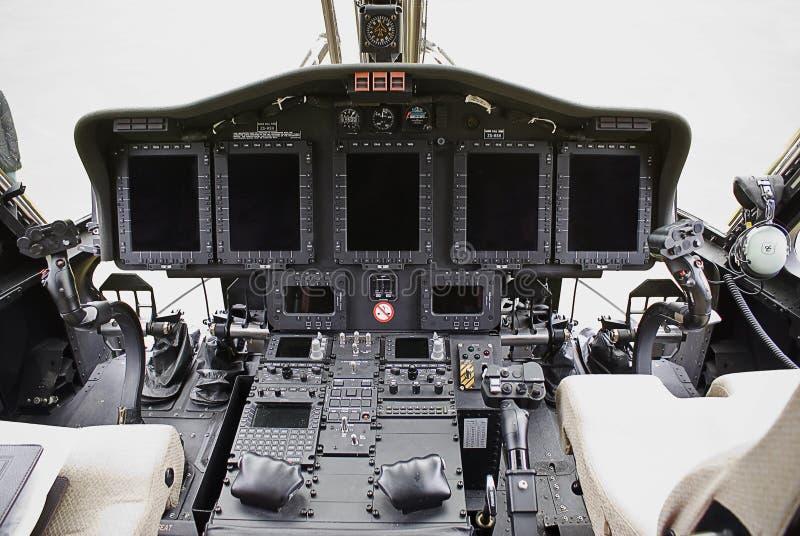 Sikorsky S-92 Elektronik lizenzfreies stockbild