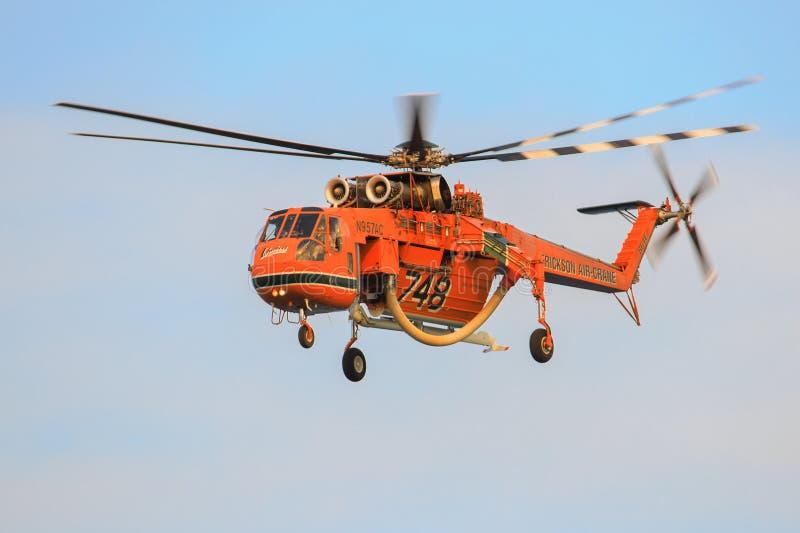 Sikorsky s-64E Skycrane royalty-vrije stock afbeelding