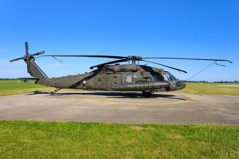 Sikorsky UH-60L Blackhawk от военновоздушной силы Соединенных Штатов стоковые фото