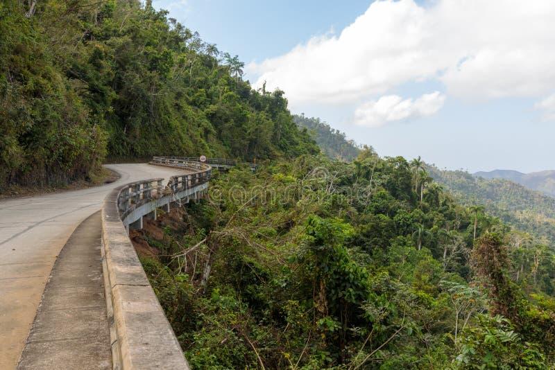 Sikt över den Alejandro de Humboldt National Park regionen guantanamo Kuba Lokal för Unesco-världsarv royaltyfria foton