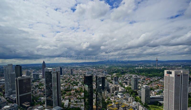 Sikt över Frankfurt arkivbilder