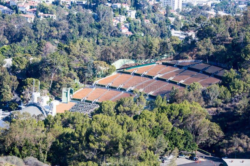 Sikt över Hollywood Bowl royaltyfri fotografi