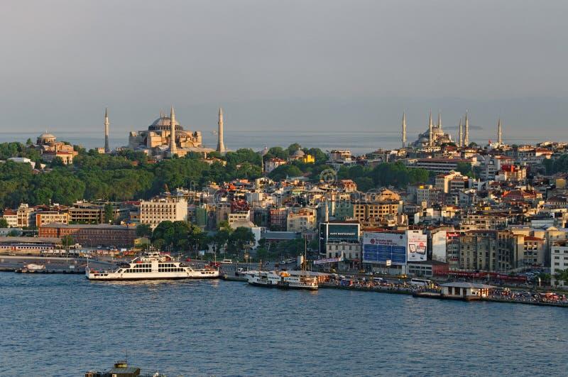 Sikt över Istanbul royaltyfri bild