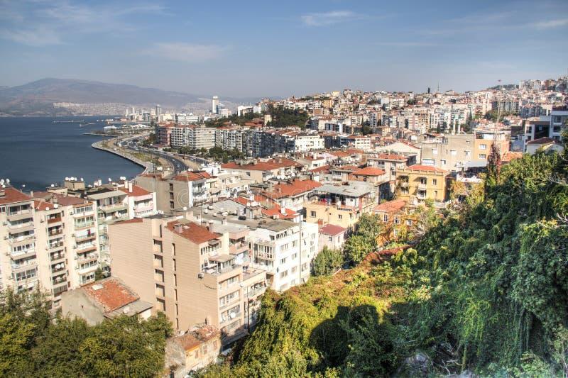 Sikt över Izmir i Turkiet arkivfoton
