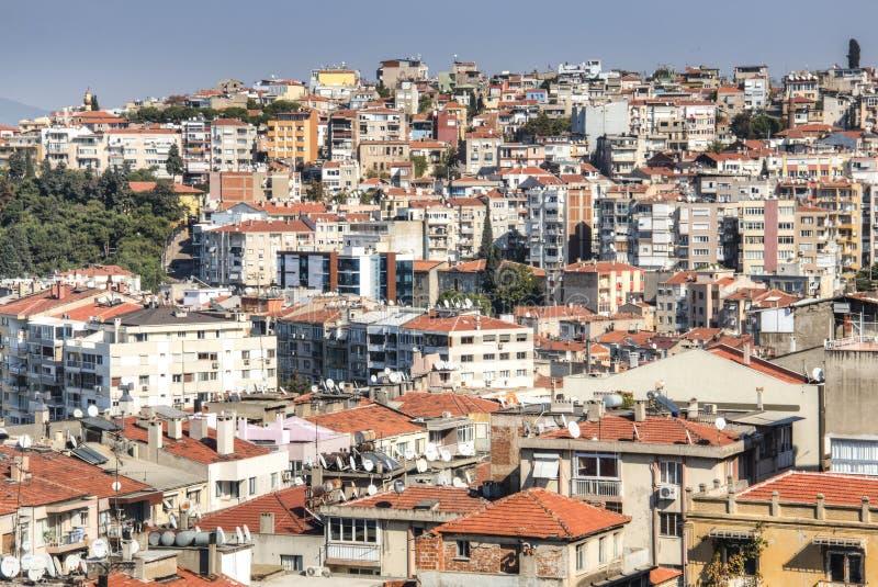 Sikt över Izmir i Turkiet arkivbild