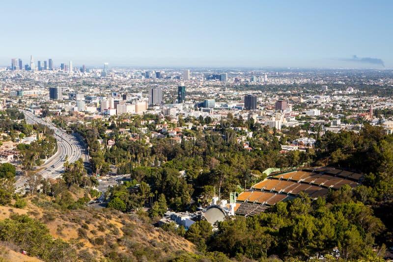 Sikt över LA fotografering för bildbyråer