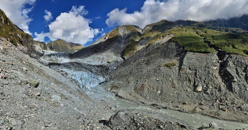 Sikt över rävglaciären - Westland, Nya Zeeland royaltyfri fotografi
