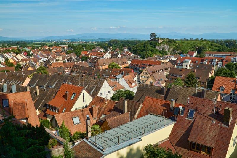 Sikt över taken av Breisach royaltyfria bilder