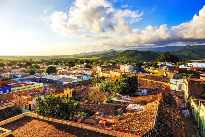 Sikt över Trinidad, Kuba royaltyfria foton