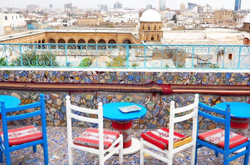 Sikt över Tunis, Tunisien royaltyfria bilder