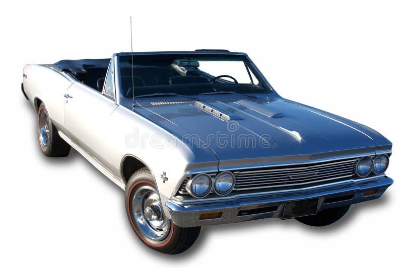 sikt 1966 för fjärdedel tre för bil klassisk royaltyfria bilder